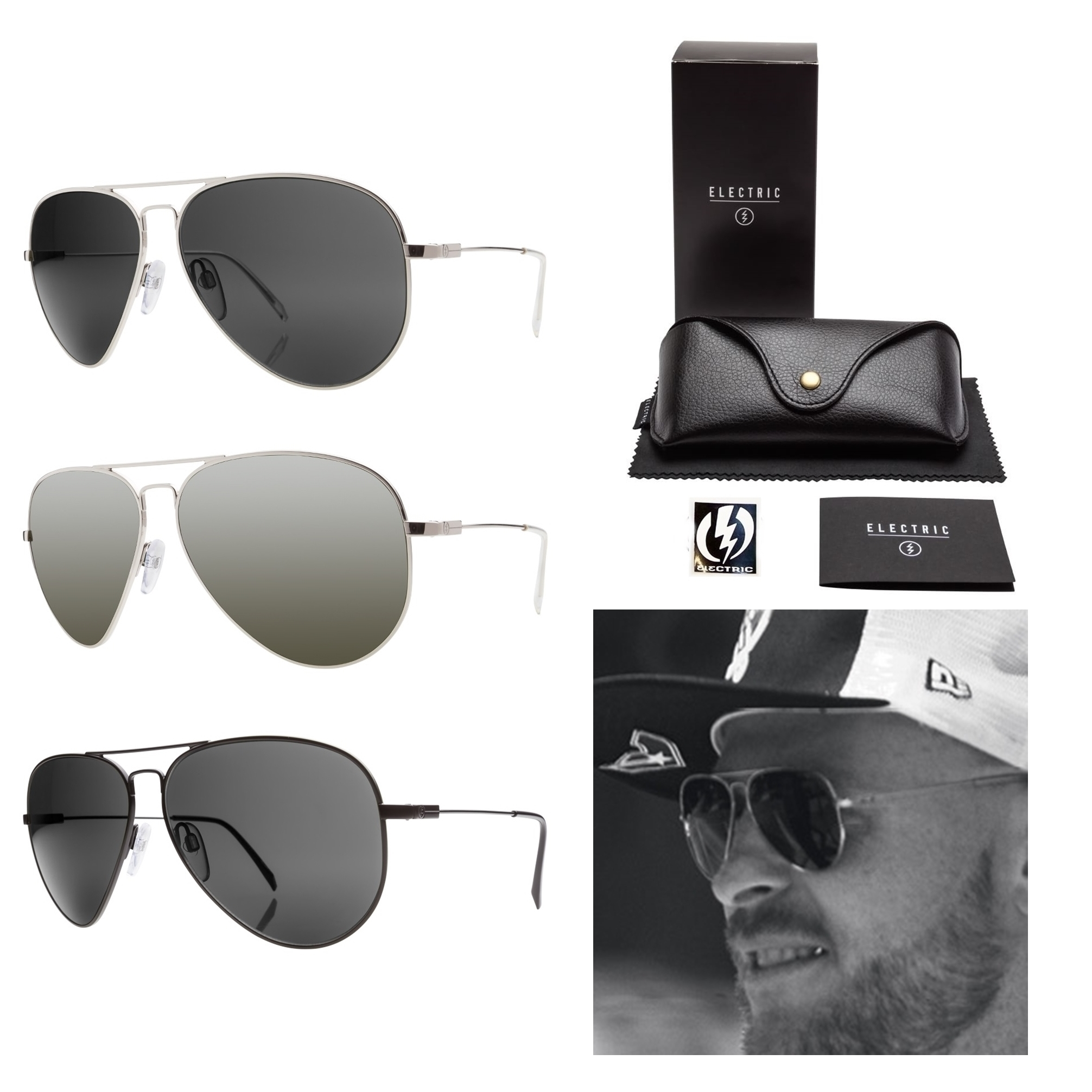 large aviator sunglasses  NEW Electric Visual Av1 Large Mens Jason Ellis Pro Aviator ...