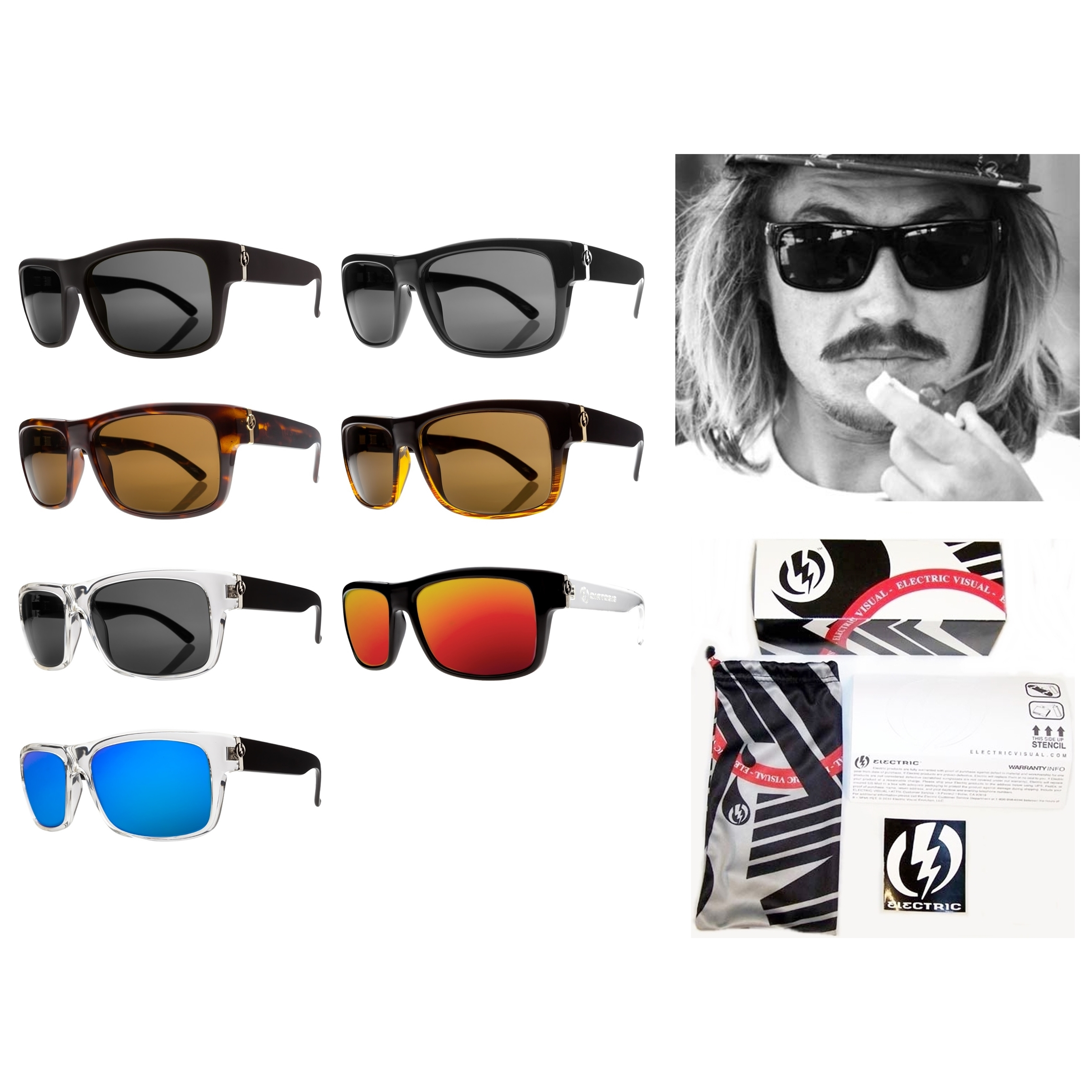 electric sunglasses  NEW Electric Visual Back Line Mens Rectangular Sunglasses Msrp$110 ...