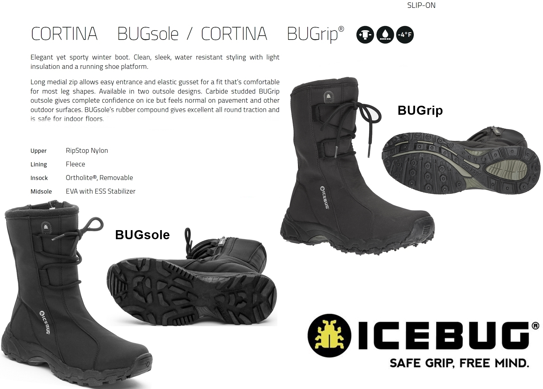 New Shoes Bugrip Bugsole Ice Winter Snow Boots Womens Icebug Cortina XwkOP8n0