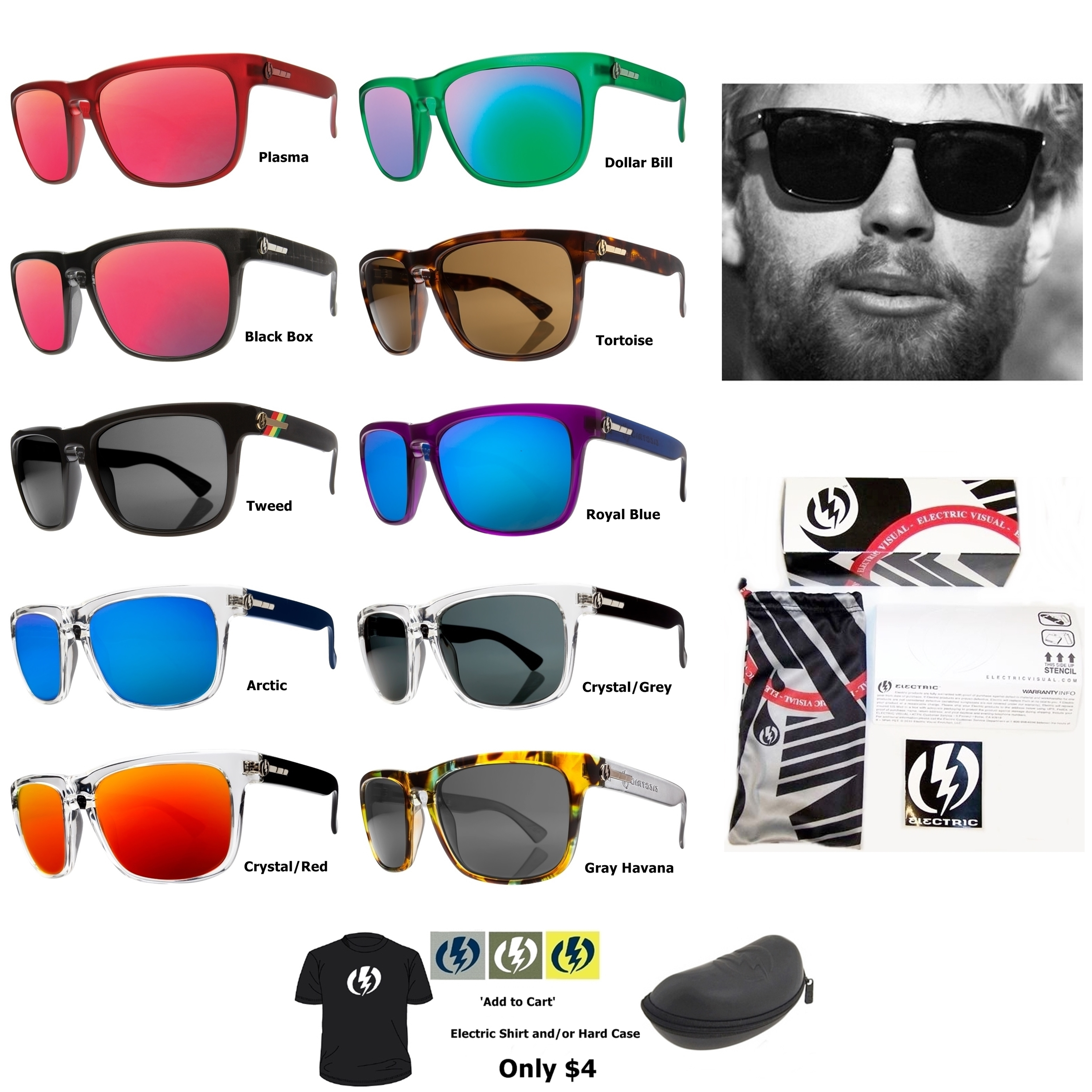 Electric Sunglasses Knoxville  new electric visual knoxville mens square sunglasses msrp 120 ebay