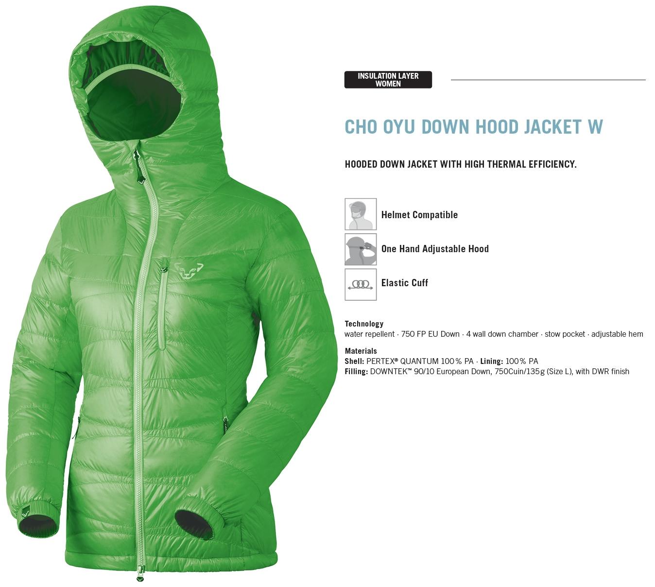 NEW Dynafit Cho Oyu Down Insulator Blue Womens Large Winter Ski Jacket Ret$320