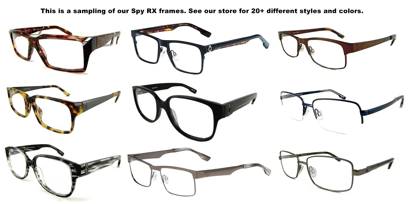 New Spy Optic Heath (52-18-145) Mens Rx Prescription Eyeglasses ...