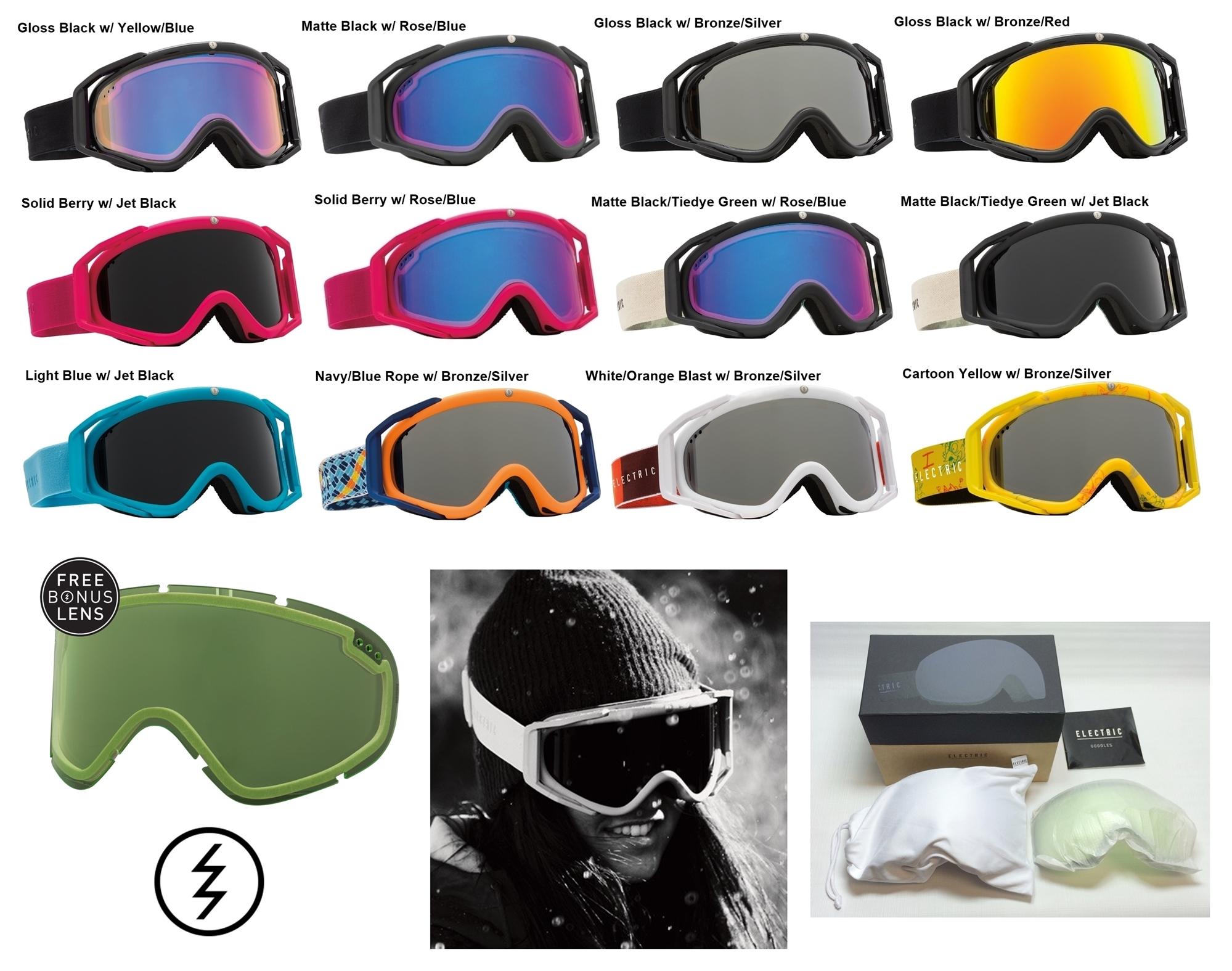 d5cfe37544c7 NEW Electric Rig.5 mens womens ski snowboard goggles + lens Msrp 160 ...