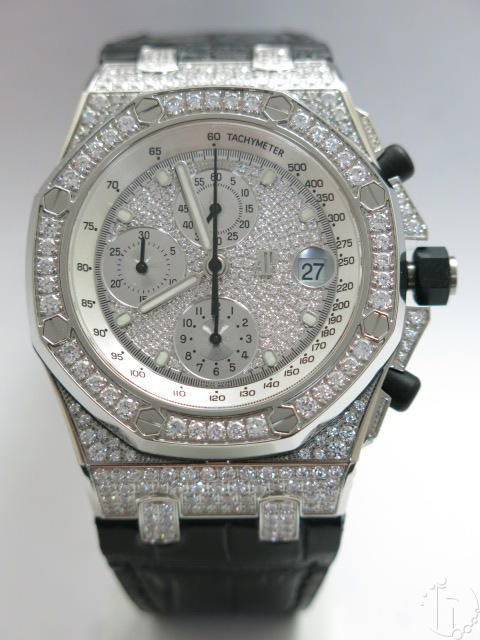 Audemars Piguet Royal Oak Offshore Chronograph 341 Faux Diamonds 7750 28.800vbh