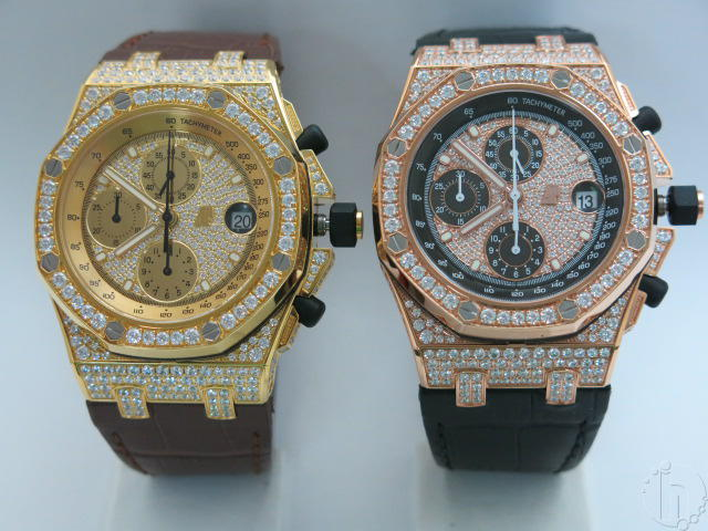 Audemars Piguet Royal Oak Offshore Chronograph Gold With 341 Faux Diamonds 7750