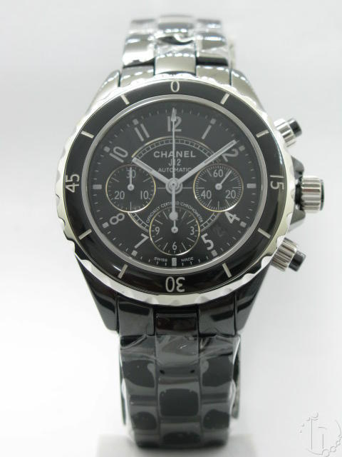 Chanel J12 Chronotime Genuine Black Ceramic A-7750 Automatic Full Chronograph
