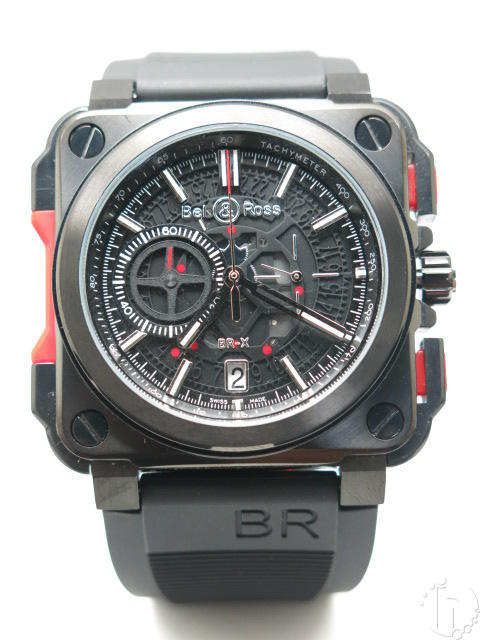 Bell & Ross BR-X1 Limited Edition Chronograph PVD Case Sculptured Dial Quartz