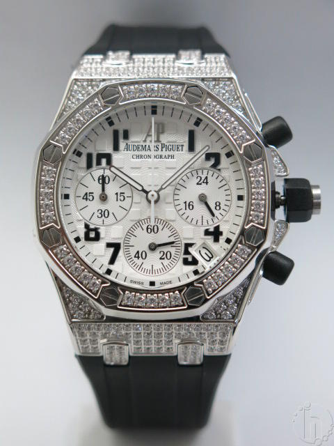 Audemars Piguet Royal Oak Offshore Lady Chronograph With 341 Faux Diamonds