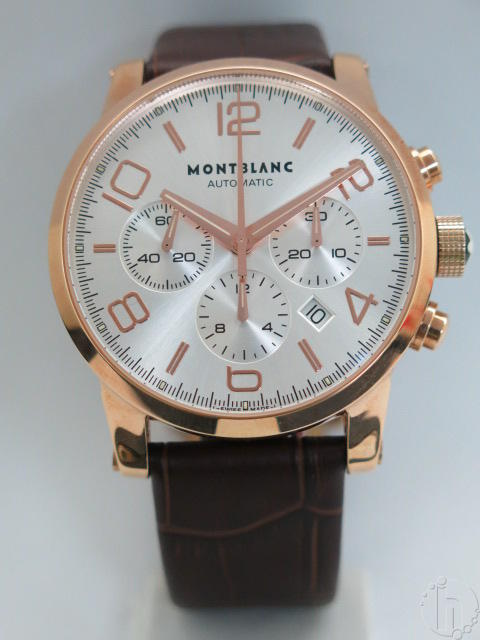Montblanc Timewalker Rose Gold Case 7753 Clone Automatic Chrongraph