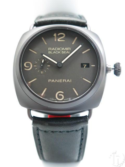 Panerai Radiomir 3 days Black Seal Ceramic 0505 Clone P.9000 Movement Black Band
