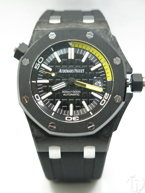 Audemars Piguet Royal Oak Diver Forged Carbon Ceramic Bezel Version Eta 2836