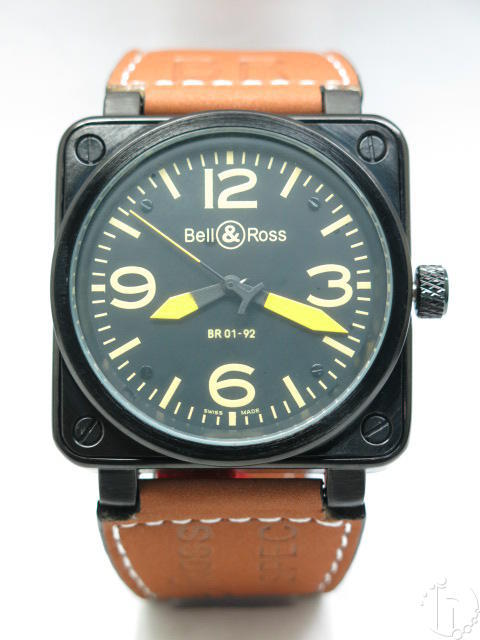 Bell & Ross Aviation BR 01-92 Automatic Black PVD Case-Various Colors and Bands