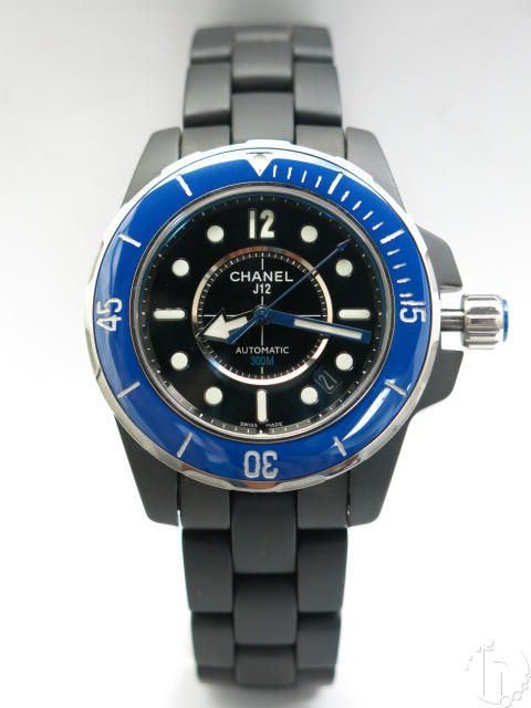 Chanel J12 Marine Ceramic Case Ceramic Blue Bezel Clone Eta Automatic Movement