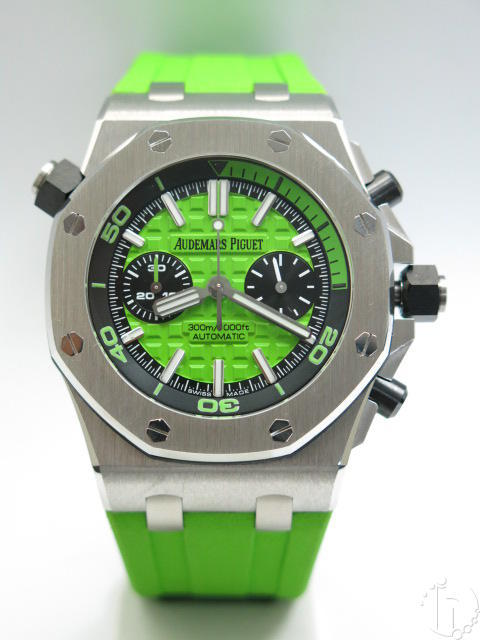 Audemars Piguet Royal Oak Offshore Diver Chronograph Clone AP 3124 Auto Green
