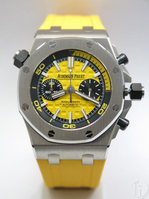 Audemars Piguet Royal Oak Offshore Diver Chronograph Clone AP 3124 Auto Yellow