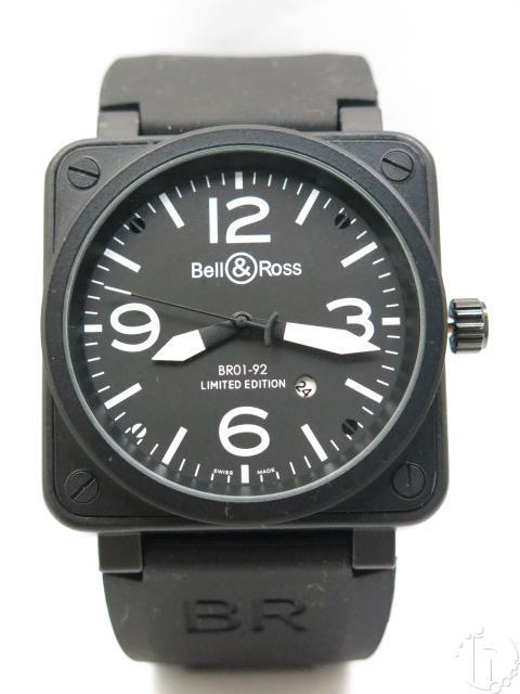 BELL & ROSS BR01-92 46mm x 46mm LIMITED EDITION