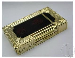S.T. Dupont Lacquer & Gold Cigarette Lighters