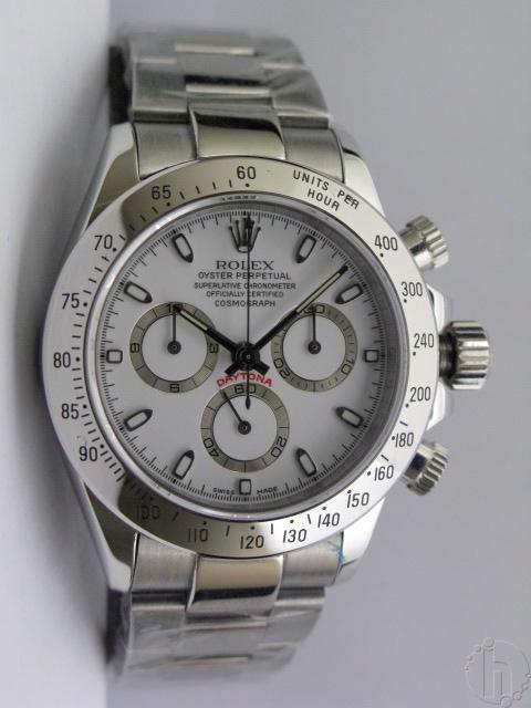 ROLEX CLASSIC DAYTONA white dial 7750b1 28,800vbh