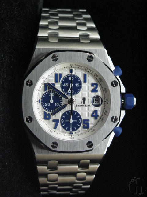 Audemars Piguet Royal Oak Offshore Navy Limited Edition Steel Band 7750 white