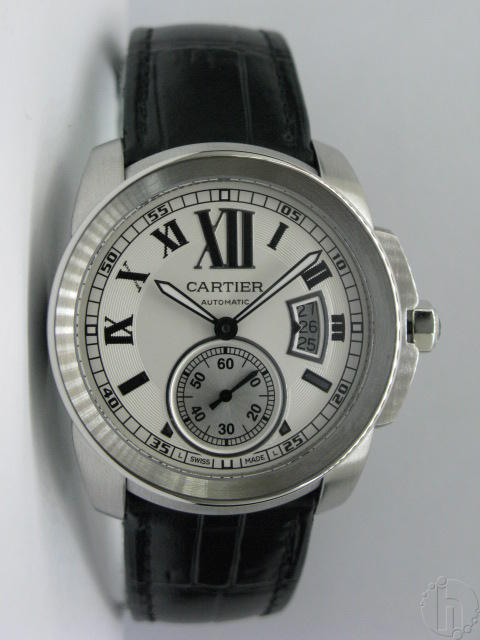 Cartier Calibre De Cartier Swiss Eta 2824-25 Leather Band
