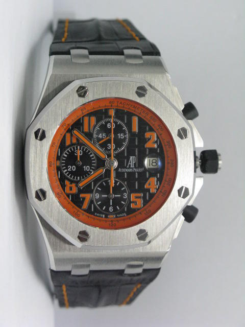 Audemars Piguet Royal Oak Offshore Volcano Chronograph Leather Band 7750 28,800b