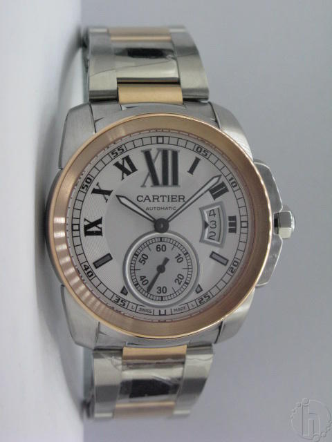 Cartier Calibre De Cartier Swiss Eta 2824-25 Steel Rose Gold