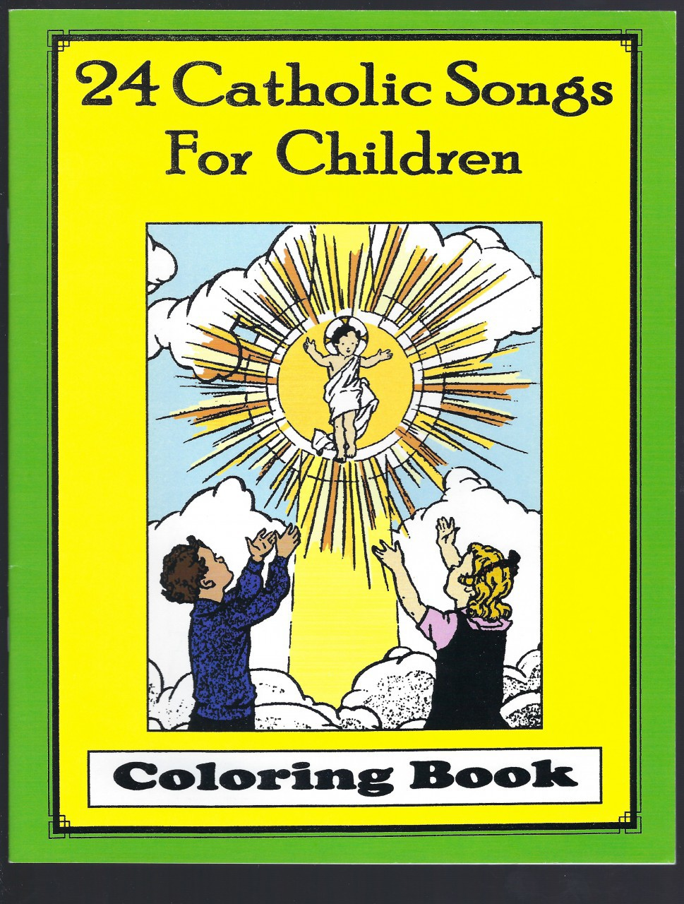 24 Catholic Songs For Children Coloring Book