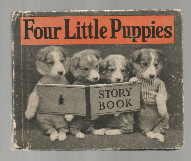 Four Little Puppies Story Book FIRST EDITION 1935 Harry Frees, Harry Whittier Frees