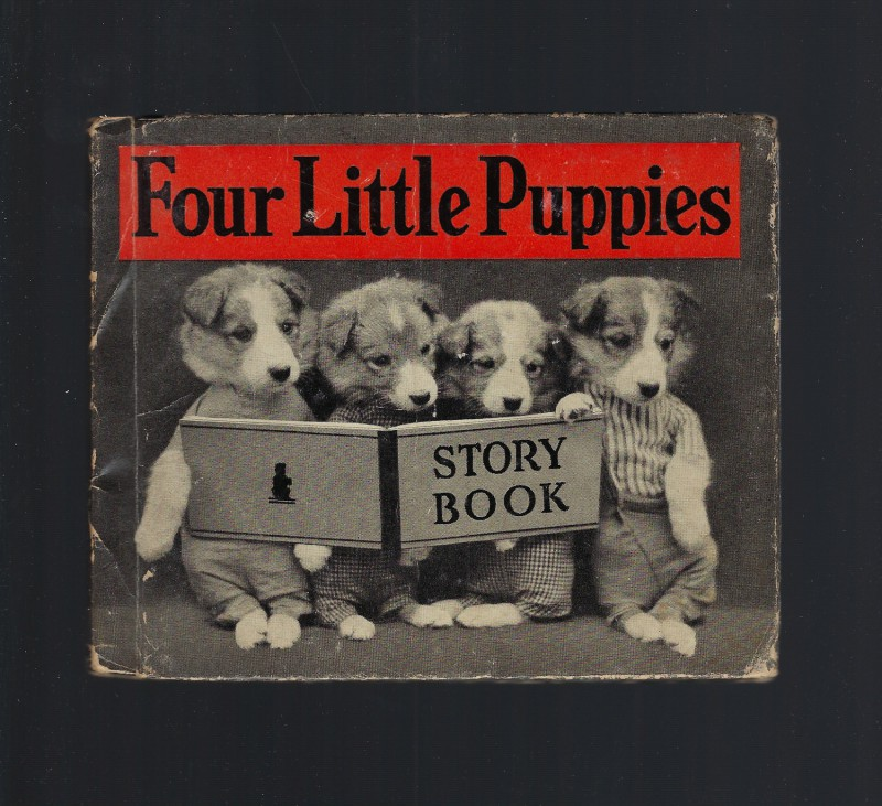 Four Little Puppies Story Book FIRST EDITION Salesman Copy! 1935 Harry Frees, Harry Whittier Frees