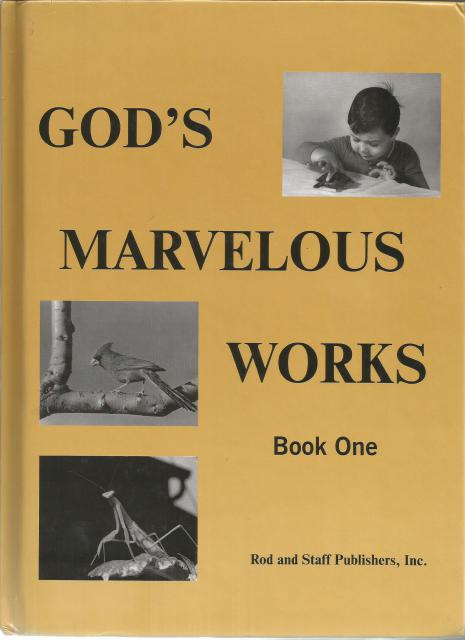 God's Marvelous Works Book One, n/a