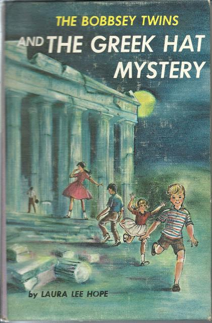 The Bobbsey Twins and the Greek Hat Mystery # 57 w Attached Fold-Out Card, Laura Lee Hope