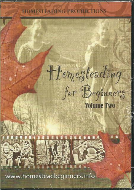 Homesteading for Beginners Volume Two DVD