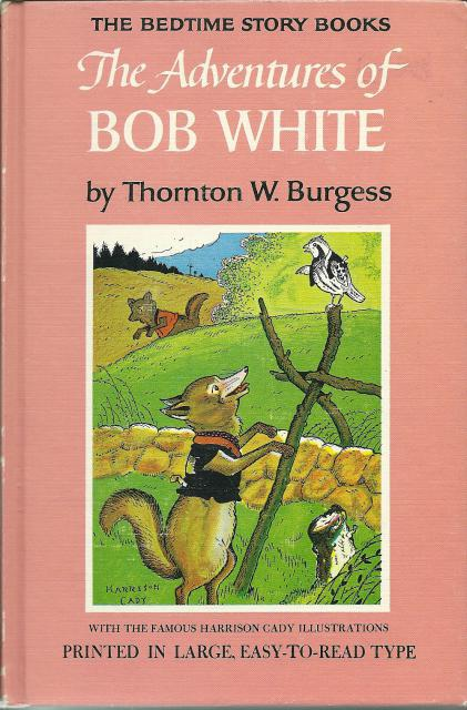 The Adventures of Bob White #19 Thornton Burgess HB Bedtime Story Books, Thornton Burgess