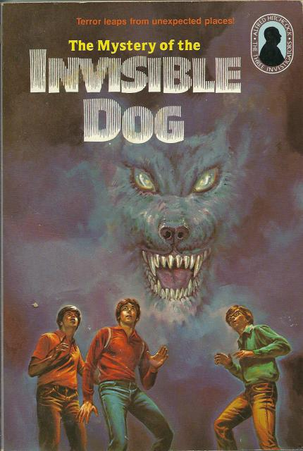 The Mystery of the Invisible Dog #23 with Intact Book Mark Three Investigators, M V Carey