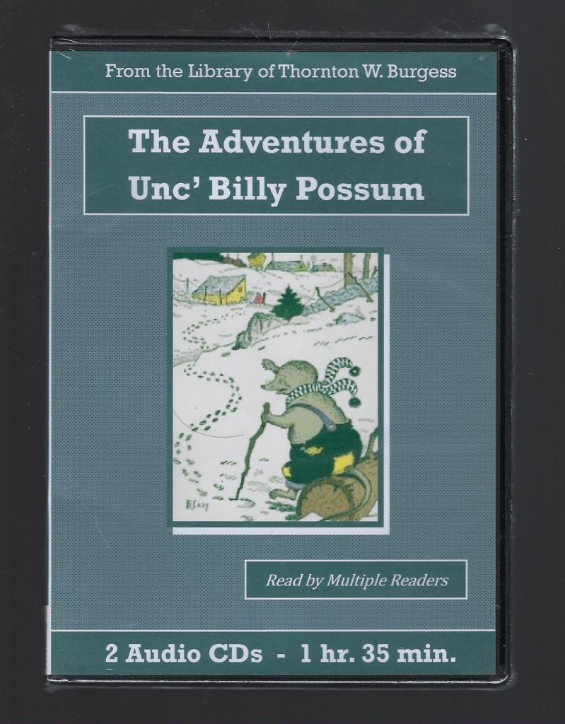 Adventures of Unc' Billy Possum Thornton Burgess Audiobook CD Set, Thornton W. Burgess