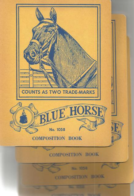 Blue Horse Vintage Notebook (Pack of 4) (Vintage Notebooks), Laughing Elephant Publishing [Creator]