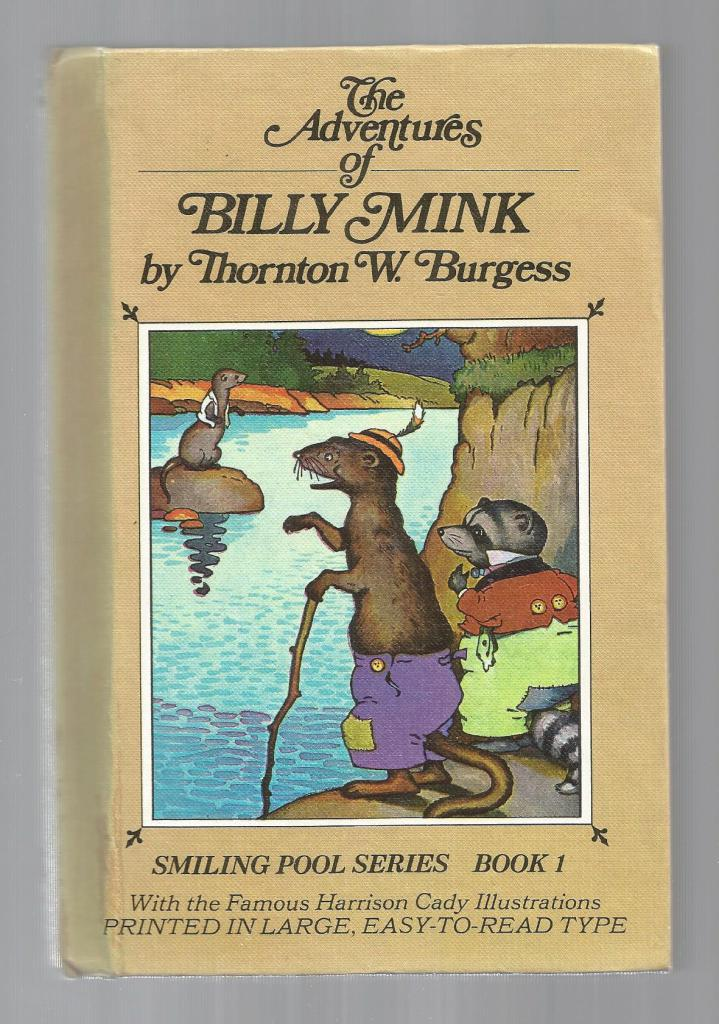 Billy Mink w Burgess Museum Sticker HB/PC, Burgess, Thornton W.