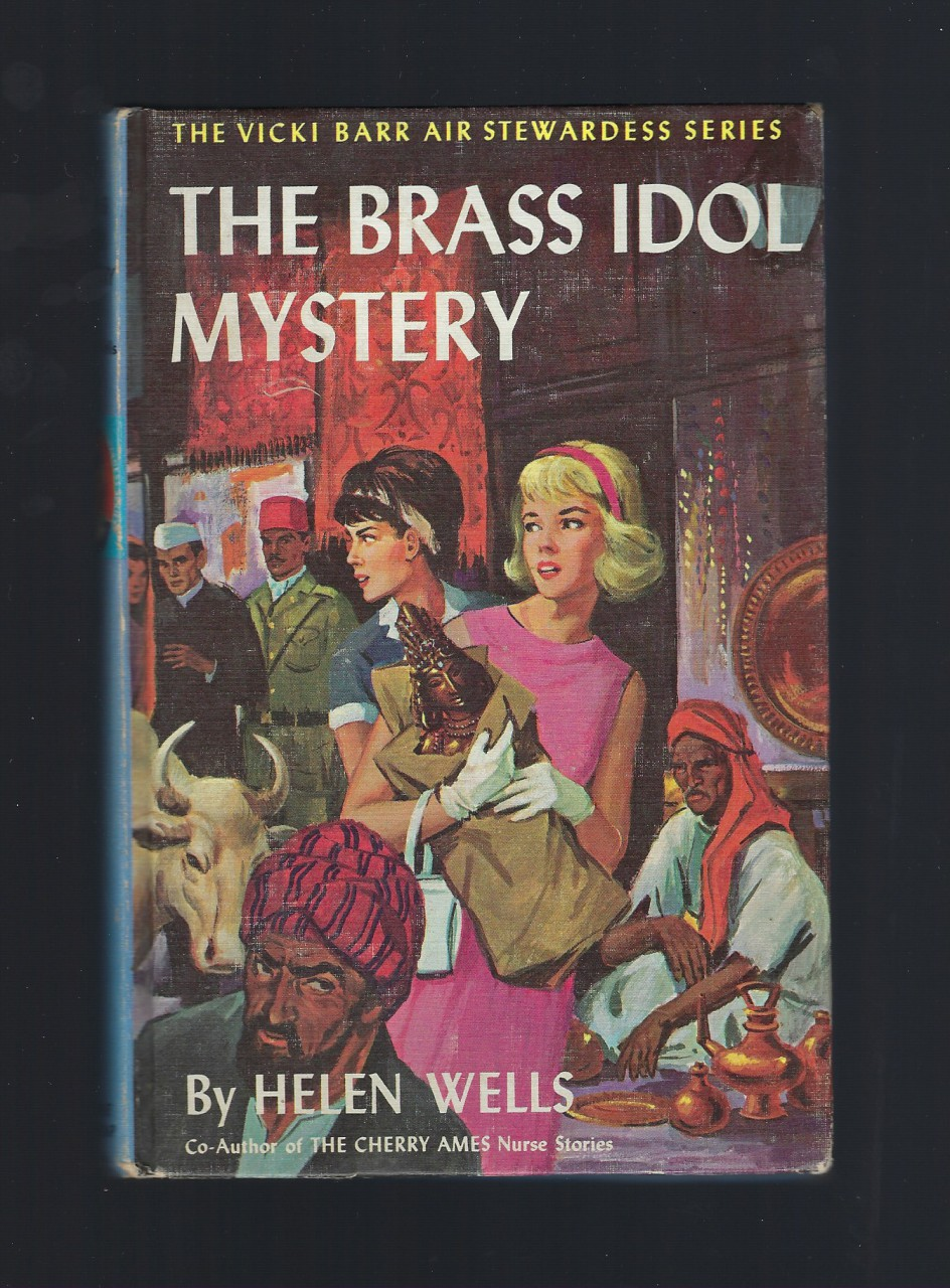 The Brass Idol Mystery #16 Vicki Barr Air Stewardess 1964 HB, Helen Wells