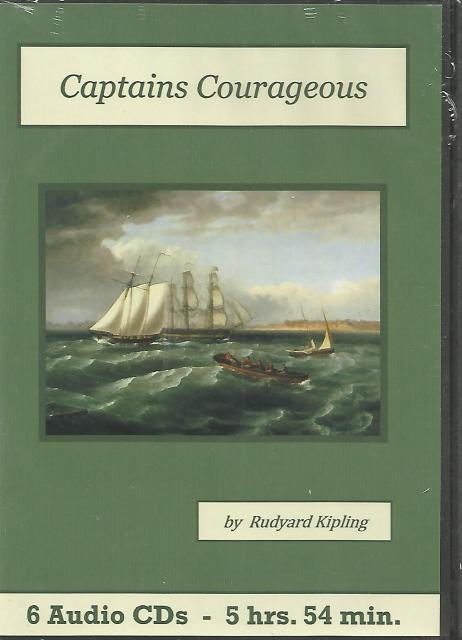 Captain's Courageous Rudyard Kipling Audiobook CD Set, Rudyard Kipling