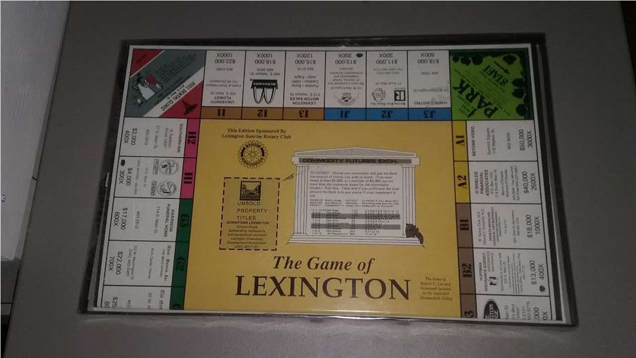 The Game of Lexington Virginia (Monopoly) New VMI W&L