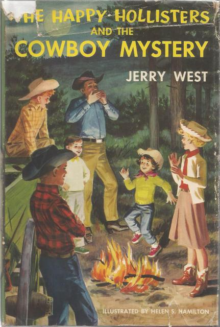 The Happy Hollisters and the Cowboy Mystery #20 HB/DJ, Jerry West; Illustrator-Helen Hamilton