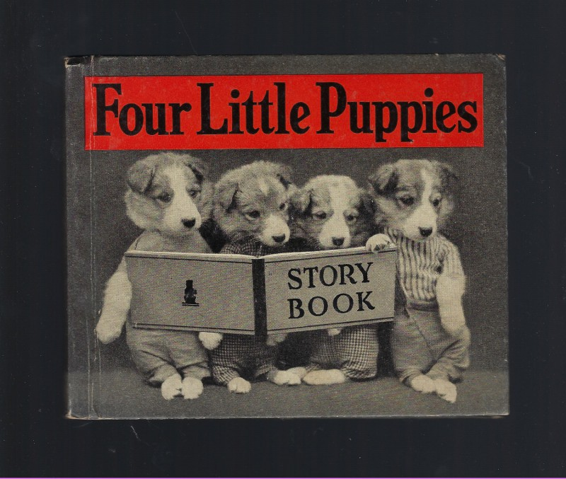 Four Little Puppies Story Book 1937 Harry Frees, Harry Whittier Frees