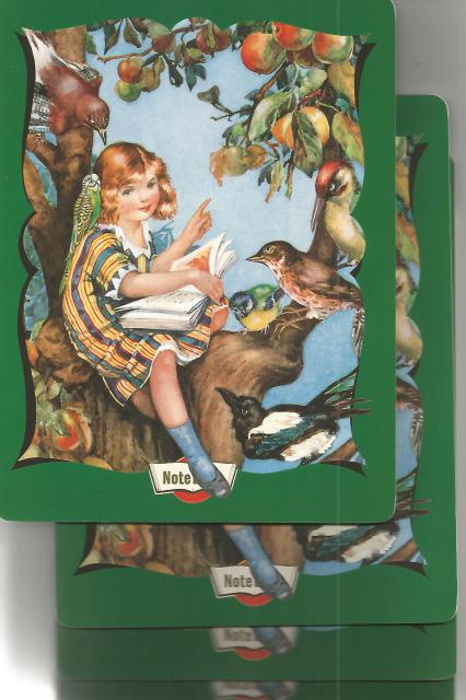 Hello Darling Notebook - Girl Reading to Birds (Hello Darling Journals) Set of 4, Benatar, Molly [Illustrator]