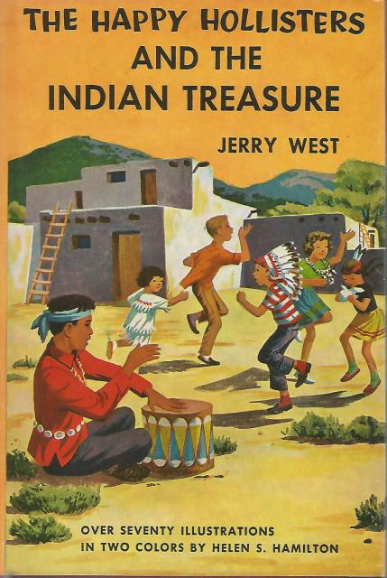 The Happy Hollisters and the Indian Treasure #4 HB/DJ, Jerry West; Illustrator-Helen Hamilton