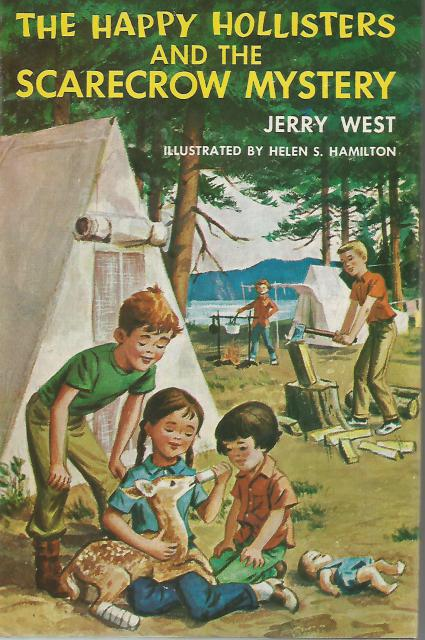 The Happy Hollisters and the Scarecrow Mystery #14 HB/DJ, Jerry West; Illustrator-Helen S. Hamilton