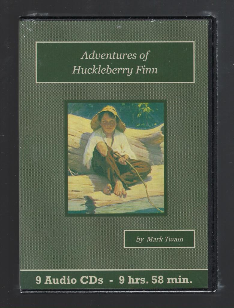 Adventures of Huckleberry Finn Audiobook CD Set, Mark Twain