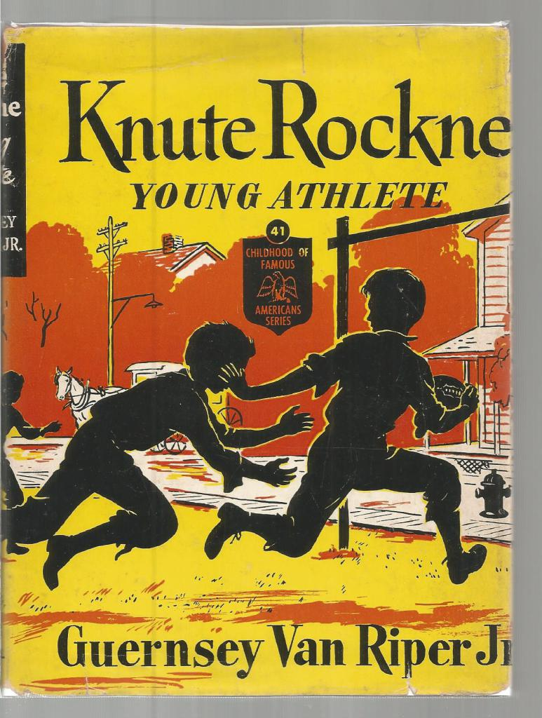Image for Knute Rockne Young Athlete (Childhood of Famous Americans) HB/DJ 1952