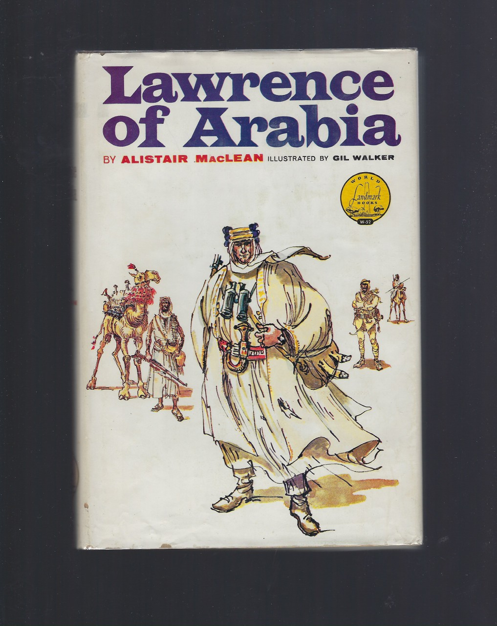 Lawrence of Arabia World Landmark #52 w Author Letter HB/DJ, Alistair Maclean