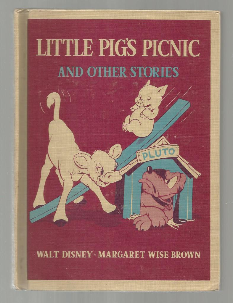 Little Pig's Picnic and Other Stories (Vintage Walt Disney Story Book) 1939 Hardback, Margaret Wise Brown
