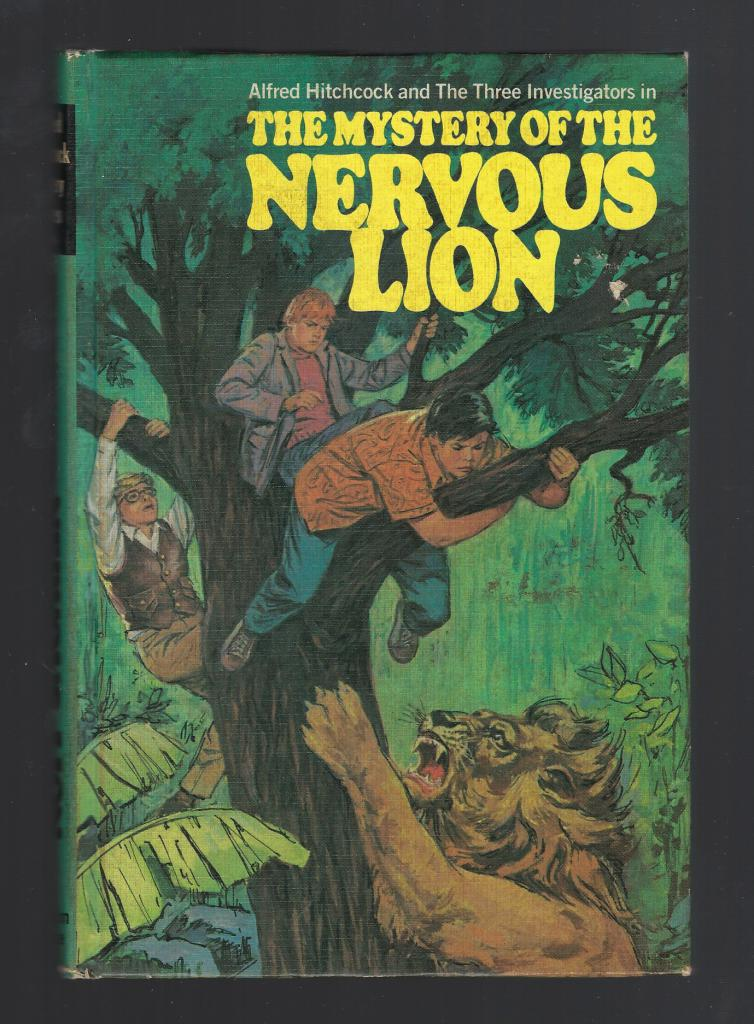 Mystery of the Nervous Lion #16 Three Investigators (1st Print) Hardback, Nick West; Harry Kane [Illustrator]